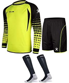 Amazon.com   KELME Soccer Goalkeeper Long Sleeves Jersey   Shorts ... 4b7432ba5