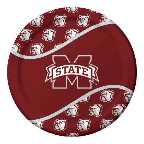 (8-Count Paper Dinner Plates, Mississippi State Bulldogs )
