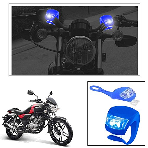 Vheelocityin 2+2 Led Blue Bike Light with Flashing Mode Motorcycle LED For Bajaj V15…