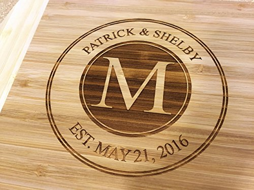 Engraved Newlywed Bamboo Cutting Board, Wedding, Anniversary Gift for Couple - TB04