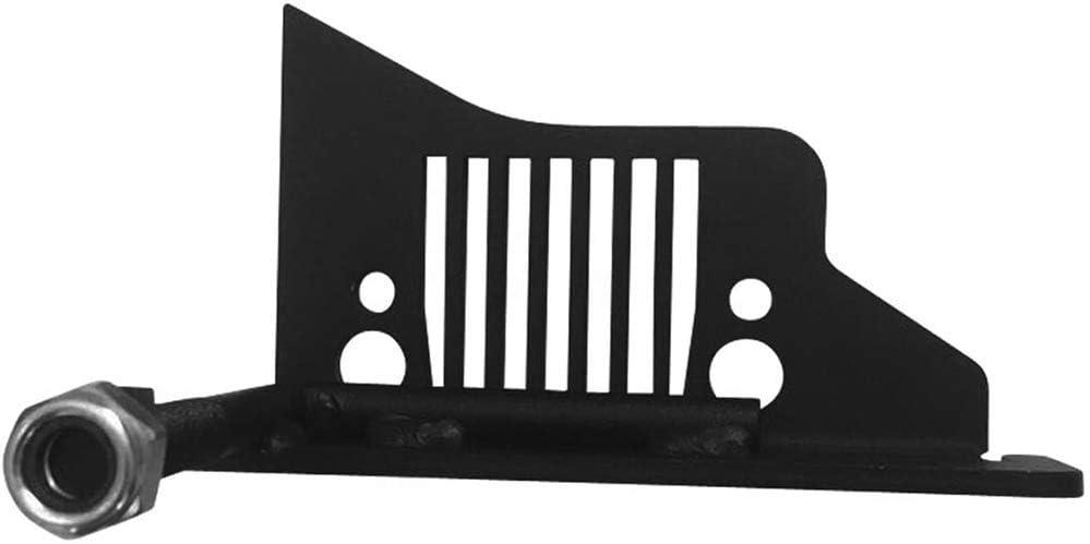 Negro L/&U Estriberas Grille Estilo para 2007-2019 Jeep Wrangler JK JKU JL Accesorios Par