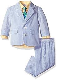 Izod Kids Baby Boys\' Seersucker Suit Set, Light Yellow, 18M