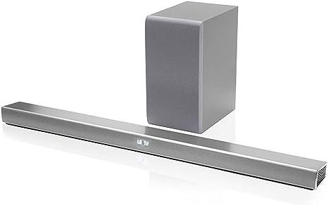 LG Soundbar SH5 sistema 2.1 potencia integrado 320 W Bluetooth HDMI/USB color plata: Amazon.es: Electrónica