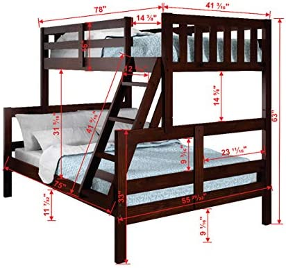 Donco Kids Austin Bunk Bed - the best modern bed for the money