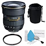 Tokina 12-28mm f/4.0 AT-X Pro APS-C Lens for Canon (International Model) No Warranty+Deluxe Cleaning Kit + 77mm UV Filter + Deluxe Lens Pouch Bundle 5