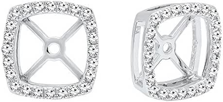 0.30 Carat (Ctw) 14K Gold Round White Diamond Removable Jackets For Stud Earrings 1/3 CT
