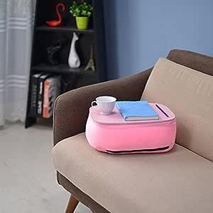 MS mesas Simple bandeja acolchada mesa rodillas en la cama mesa de ...