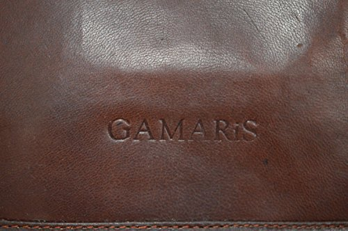 Gamaris - Bolso de asas de cuero para hombre marrón silla marrón Groß