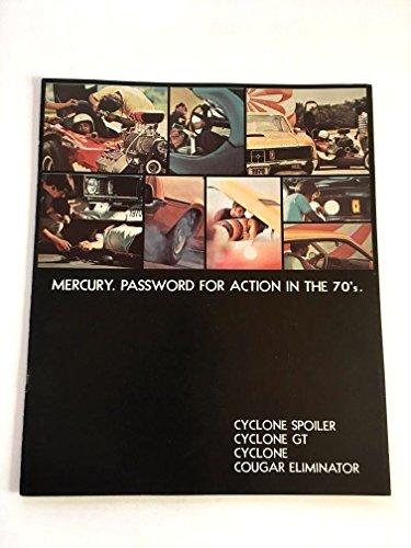 1970 Mercury Cyclone GT Cougar Eliminator Spoiler Car Sales Brochure Catalog