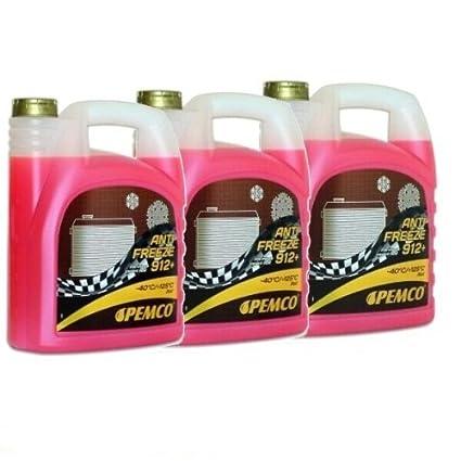 Líquido anticongelante, según G12+, 3 garrafas de 5 L (total ...