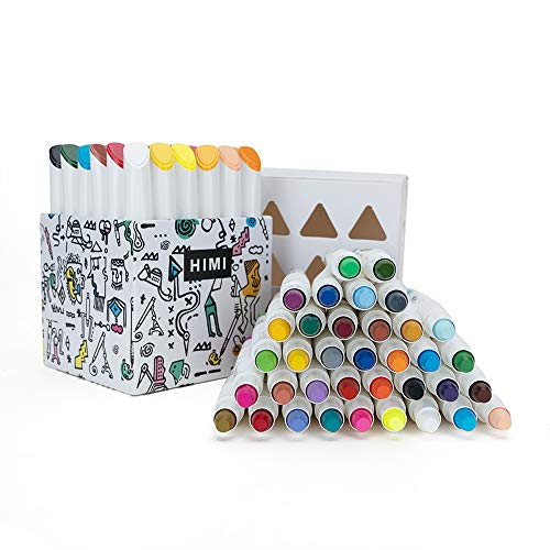 MIYA Himi Twistable Gel Crayons 12/24/36 Colors; Washable, Bolder, Pastel, Jumbo for Crayon, Pastel, Watercolor Art Supplies Suitable Kids/Toddlers/Preschooler/Adults(36)