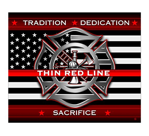 Erazor Bits Cozy Blanket 50 x 60| Thin RED LINE Firefighter Throw Blanket FF2311-TB