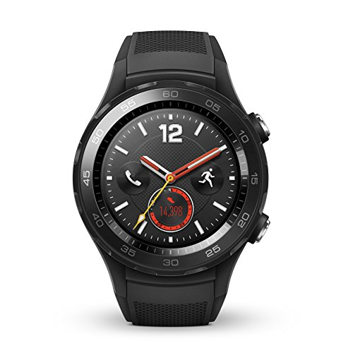 Huawei Watch 2 Sport Bluetooth + 4G/LTE Factory Unlocked IP68 4GB Smartwatch (Carbon Black) - International Version