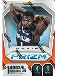2019 2020 Panini PRIZM Basketball Blaster Box of Packs with One GUARANTEED AUTOGRAPH or MEMORABILIA Card Per Box and Possible Rookies and Stars and EXCLUSIVE Prizms including Zion Williamson