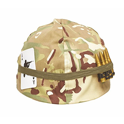 Kids U.S Marines Army Helmet Includes Bullets & Playing Card - Multi Cam - Playing Cards Soldiers