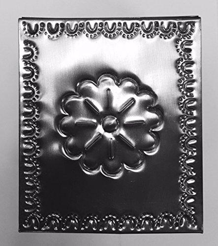 Handmade Tin Tissue Box Cube Pewter