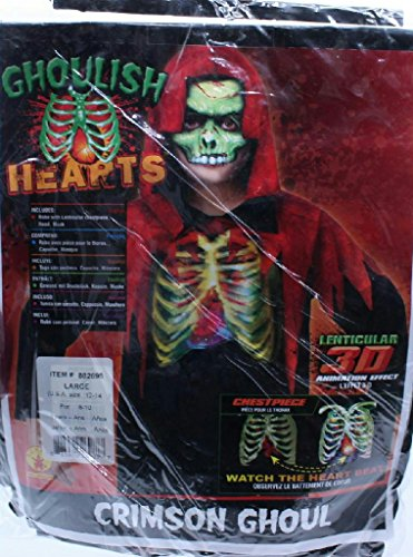Crimson Ghoul Lenticular 3D Animation Effect Beating Heart Child Large 12-14 ()