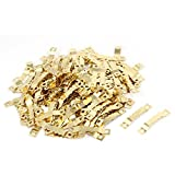 uxcell® Cross Stitch Picture Frame 45x8x3mm Saw Tooth Sawtooth Hanger Gold Tone 200pcs