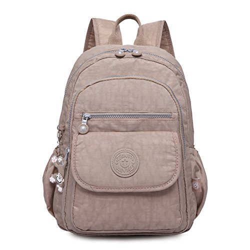 Mini Classic Backpack Nylon Travel Daypack Junior School Bagpack Waterproof (Khaki) Review