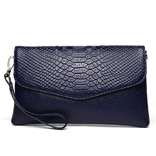 Ladies Bag Color Leather Evening Clutch Red Chain Bag Black Crocodile Clutch Layer Bag Clutch Two City Bag Elegant with Cowhide Long ZHRUI qxH6Pw