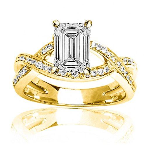 0.54 Ct Emerald Cut Diamond - 7