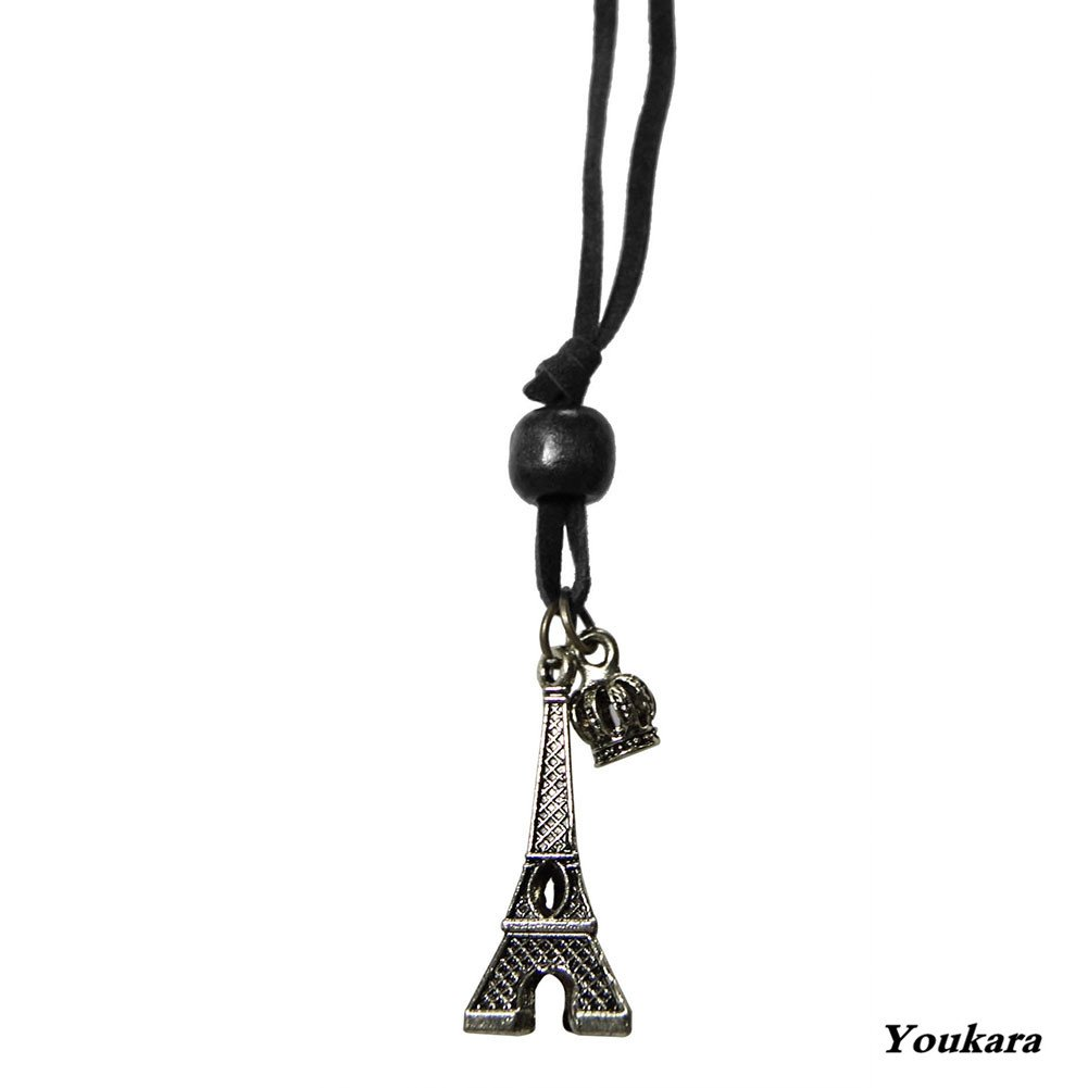 Youkara Necklace for Teen Girls Women Eiffel Tower Necklace Silver