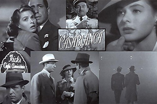 casablanca poster collage old movie