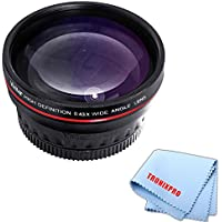 58mm Vivitar 0.43x HD Wide Angle Fixed Lens With a Tronixpro Microfiber Cloth for Canon T1i, T2i, T3, T3i, T4i, T5, T5i, SL1, 1D, 5D, 5D Mark II, 5D Mark III, 6D, 7D, 10D, 20D, 30D, 40D, 50D, 60D, 70D & More