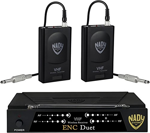 Nady Encore Duet Dual Wireless Instrument System Band A and F by Nady