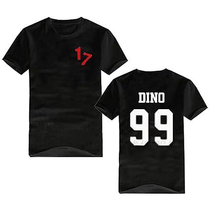 2683b6c5a7e2 KPOP Seventeen 17 Same Style T-shirt Dino DK Vernon Woozi Wonwoo Tee Shirt  XS