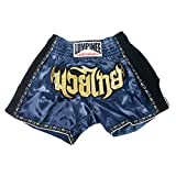 Lumpinee Retro Muay Thai Kick Boxing Shorts : LUMRTO-003-Navy