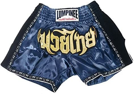 Lumpinee Retro Muay Thai Kick Boxing Shorts : lumrto-003-navy  XX-Large