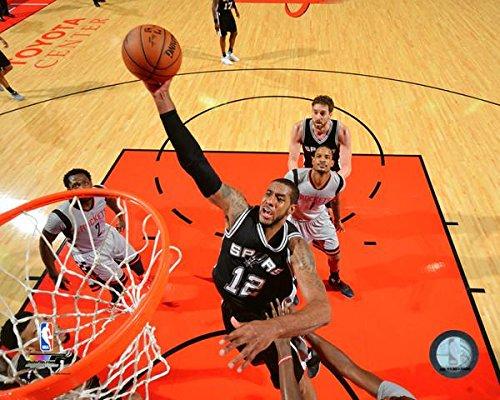 LaMarcus Aldridge San Antonio Spurs 2017 NBA Playoffs Action Photo (Size: 8