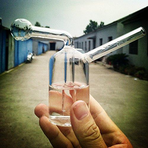 Glass Bong Pipe - 12cm Mini Hookah Smoking Filter Water Pipes Percolator...