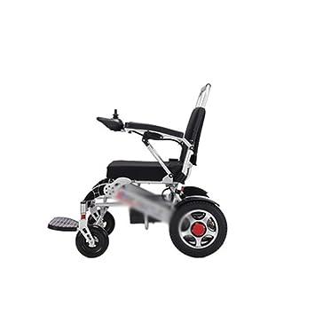 BEI-YI Silla de Ruedas Ancianos discapacitados Scooter de Cuatro Ruedas Ligero Marco de Aluminio Plegable Silla de Ruedas eléctrica -Silla de Ruedas: ...
