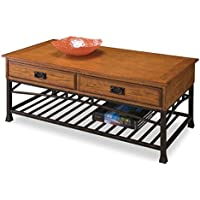 Home Style 5050-21 Modern Craftsman Coffee Table, Distressed Oak Finish