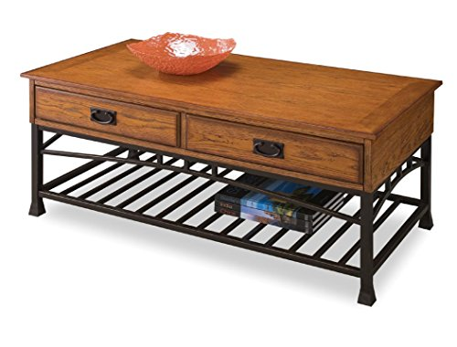 Modern Craftsman Distressed Oak Coffee Table by Home Styles