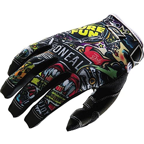 ONeal MX Jump Crank Mens Black/Multi Leather Motorcycle Gloves - 12