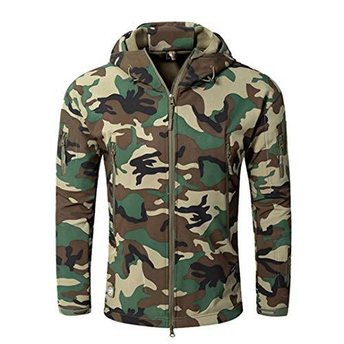 (FieldShuFu Autumn Men's Military Camouflage Fleece Jacket Army Tactical Clothing Camouflage Windbreakers JG)