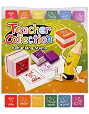 Teacher stamps x 6 self inking stamps for kids Ideal for sch