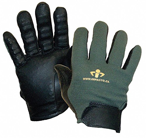 Anti-Vibration Gloves, Leather, L, PR