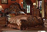 1PerfectChoice Traditional Antique Carved Wood Queen Eastern California King Bed Claw Foot Oak