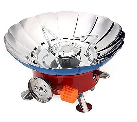 Portátil Lotus Forma cortavientos Camping Gas estufa Mini al aire libre barbacoa estufa quemador de picnic mochila por avanzada: Amazon.es: Hogar