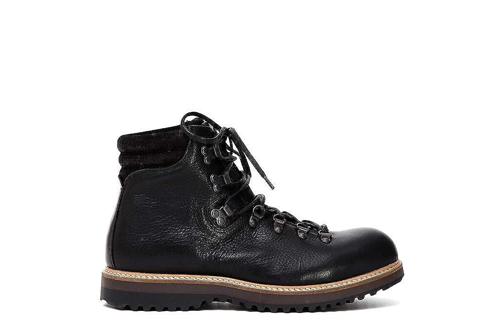 CAF schwarz schwarz schwarz QD201 Schwarze Schuhe Frau Schnürsenkel Leder 0e71cb