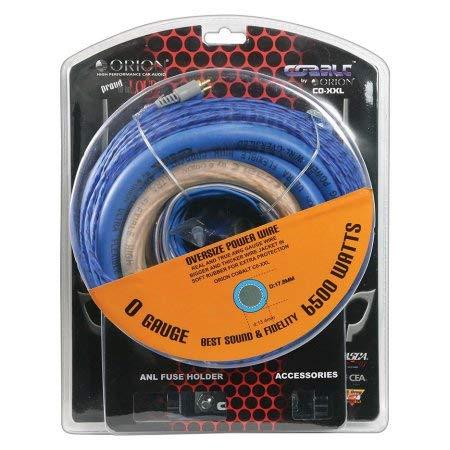- Orion Cobalt Complete 0 Gauge Amp Kit Oversize Wire (6500 Watts), Black