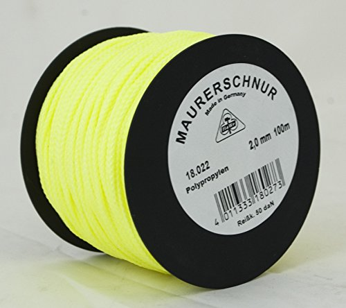 HaWe Maurerschnur Polypropylen, 100 m x 2 mm, leucht gelb, 18.022