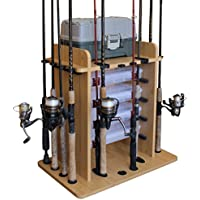 Rush Creek Creations 14 Fishing Rod Rack with 4 Utility...