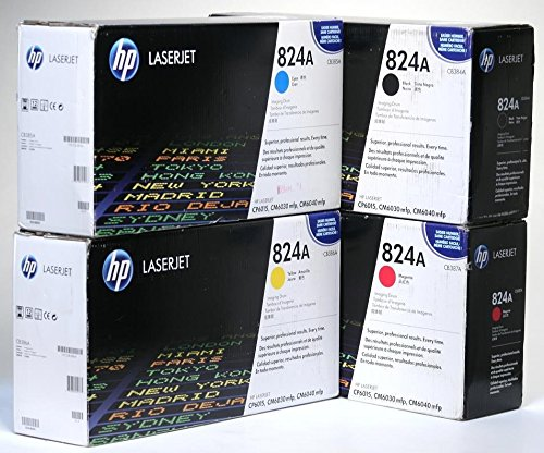 Genuine HP CB384A, CB385A, CB386A, CB387A 824A Imaging Drum Set BCYM LJ CP6015, CM6030, CM6040 MFP Sealed in Retail Packaging