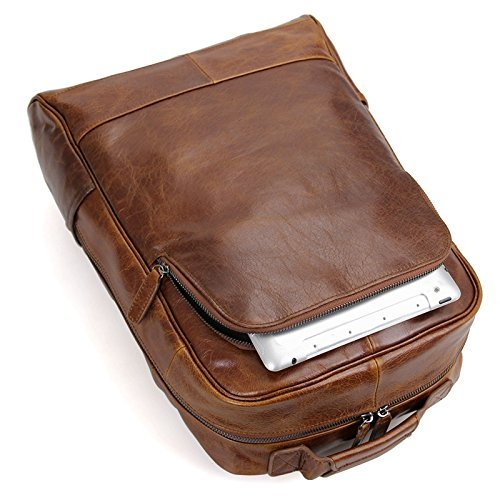 Handmade Vintage Style Top Grain Luxury Real Leather Backpack Briefcase Messenger Bag Laptop Bag