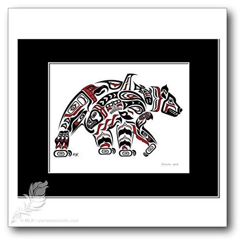Kodiak - Pacific Northwest Coast Tribal Style Bear Art Print
